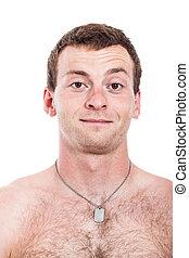shirtless, uomo sorridente
