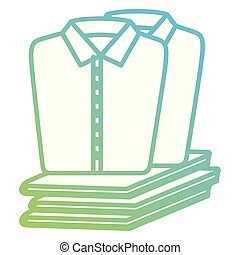 shirts and clothes laundry service vector illustration ...
