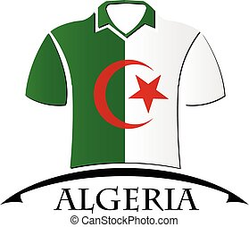 shirts icon made from the flag of Algeria