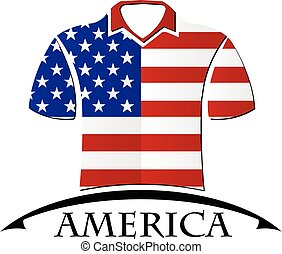 shirts icon made from the flag of America