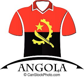 shirts icon made from the flag of Angola