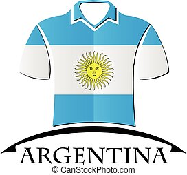 shirts icon made from the flag of argentina