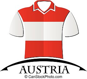 shirts icon made from the flag of Austria