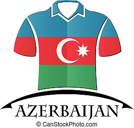 shirts icon made from the flag of Azerbaijan