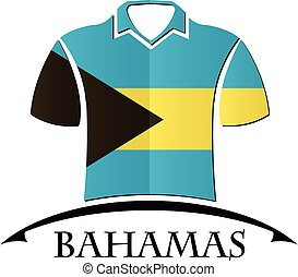 shirts icon made from the flag of Bahamas