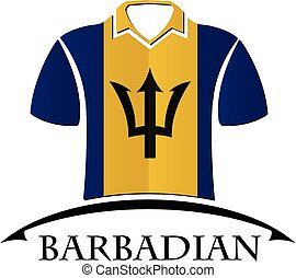 shirts icon made from the flag of Barbadian