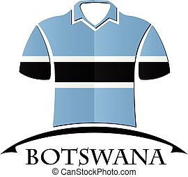 shirts icon made from the flag of Botswana