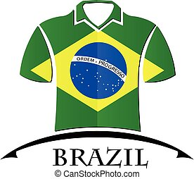 shirts icon made from the flag of brazil