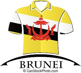 shirts icon made from the flag of brunei