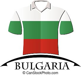 shirts icon made from the flag of Bulgaria