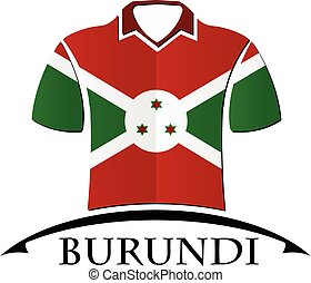 shirts icon made from the flag of burundi
