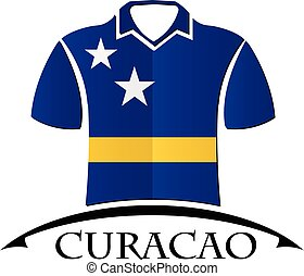shirts icon made from the flag of Curacao