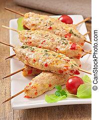 shish, kebab pollo
