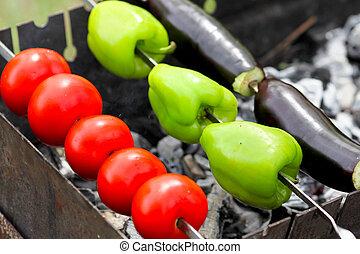 shish, verdura, kebab