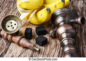 Shisha hookah with banana tobacco flavor