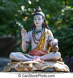 shiva, estatua, en, rishikesh, india