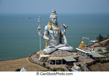 shiva, karnataka, india, templo, señor