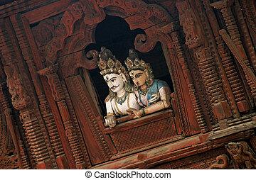 Shiva-Parvati Temple in Kathmandu, Nepal