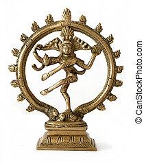 shiva - dancing shiva on white background