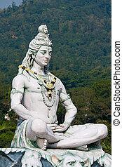 shiva, statua, w, rishikesh, indie