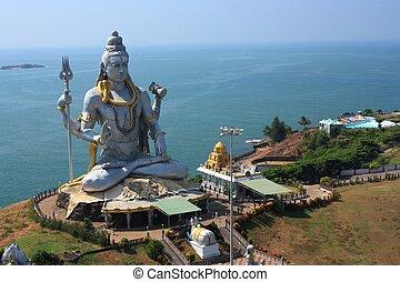 shiva, statue, dans, india.
