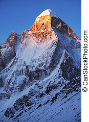 Shivling peak - High mountain peak