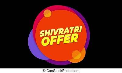 Shivratri Offer Text Sticker Colorful Sale Popup Animation....