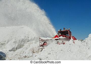 shnekorotor removes snow