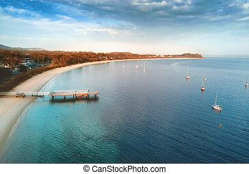 Shoal Bay Port Stephens - First light on Shoal Bay, Port...