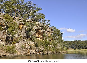 Scenery along the Shoalhaven River, Nowra New South Wales, Australia