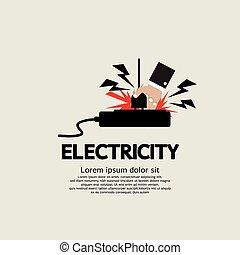shock., électrique