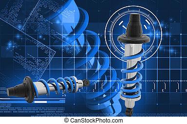 Shock Absorber - Digital illustration of Shock absorber in ...