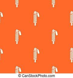 Shock absorber pattern vector orange for any web design best