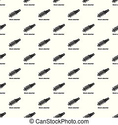 Shock absorber pattern vector seamless repeating for any web...