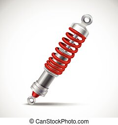 Shock Absorber Realistic - Red realistic shock absorber...