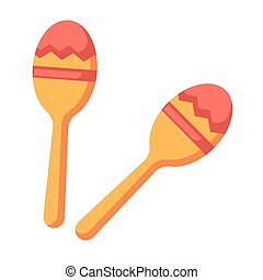 Shock-and-noise instrument of Indians - maracas isolated...