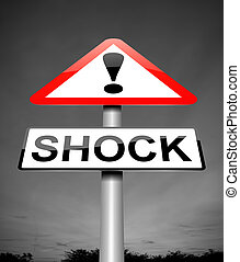 Shock concept. - Illustration depicting a sign with a shock...