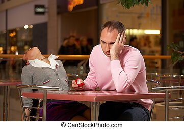 Shock from the offer on a marriage - Two in cafe - the girl...