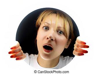 Girl in shock!