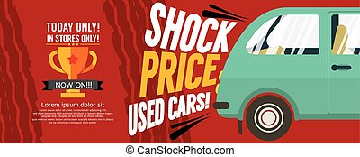Shock Price Used Cars Sale Banner