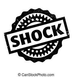 Shock rubber stamp. Grunge design with dust scratches....