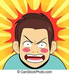 Shocked Angry Man Cartoon