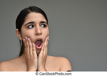Shocked Beautiful Girl