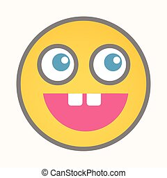 Shocked - Cartoon Smiley Vector