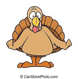 Cartoon turkey bird. Cute stylized cartoon turkey bird ...