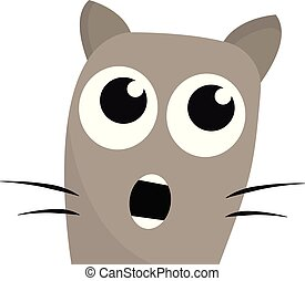 Shocked cat vector or color illustration