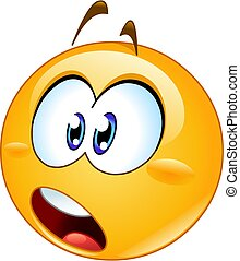 Shocked emoji emoticon opening his mouth