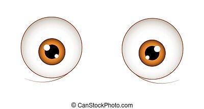Shocked Eyes Vector