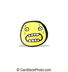 shocked face symbol