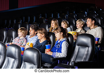 Shocked Families Watching Movie - Shocked families watching...